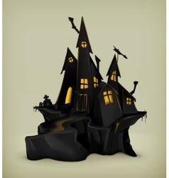 Halloween witch castle vector image vector image