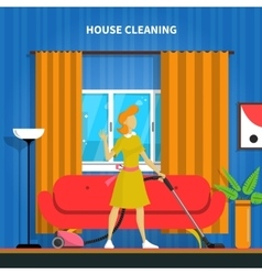 House Cleaning Background vector image