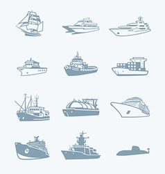 Marine traffic icons vector image