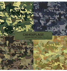 Set of original camouflage patterns Seamless vector image
