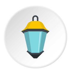 Street light icon circle vector