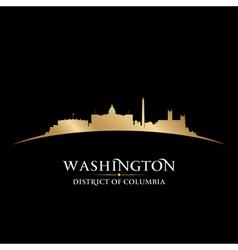 Washington DC city skyline silhouette vector image