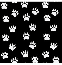 Cat or dog paw seamless pattern - animal vector