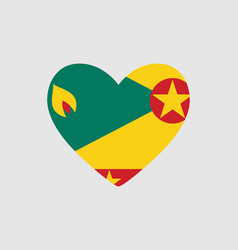 heart of the colors of the flag of grenada vector image vector image