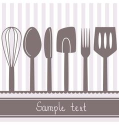 kitchen spoon banner vector image vector image