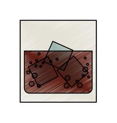 liquor in the rocks vector image