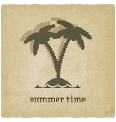old background with palm tree vector image vector image