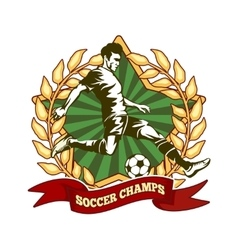 Soccer championship label vector image