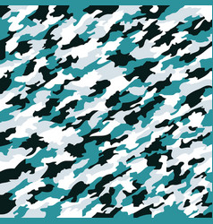 aqua camouflage texture vector image