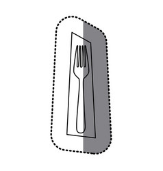 figure fork picture decorative icon vector image vector image