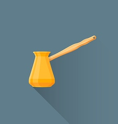flat coffee turk icon vector image