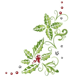 Holly christmas vector image vector image
