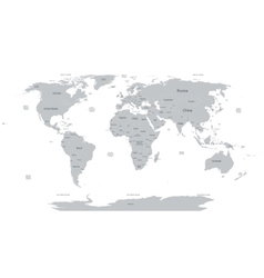 political world map vector image vector image