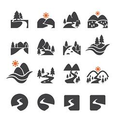 River icon set vector