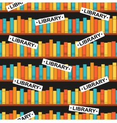 seamless pattern with a library vector image vector image