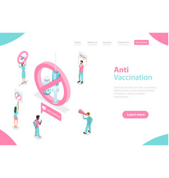 3d isometric flat landing page tamplate of vector