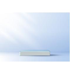 3d realistic elegant display white pedestal vector