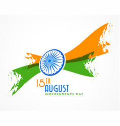 Abstract indian independence day creative vector