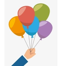 Air balloons flying vector image