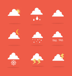 Art of weather set icon vector