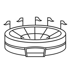 baseball arena icon outline style vector image