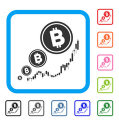 bitcoin inflation chart framed icon vector image