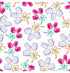 bouquet pattern vector image vector image