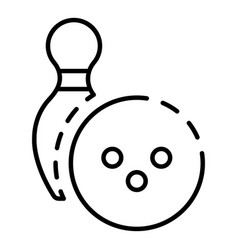 bowling league icon outline style vector image