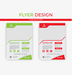 Business flyer template layout image vector