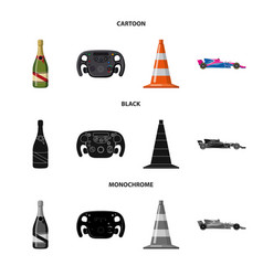 Car and rally sign set of vector