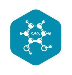 Catechol molecule icon simple style vector