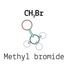 CH3Br methyl bromide molecule vector image
