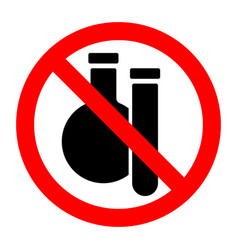 chemical substances stop forbidden prohibition vector image
