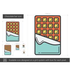 Chocolate bar line icon vector