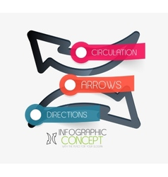 Circulation arrows infographic concept vector