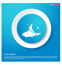 Cloudstarmoon icon vector