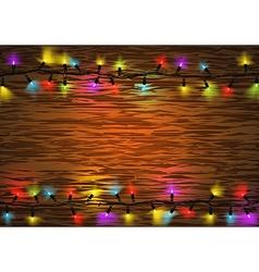 Colorful Christmas LED Lights vector image