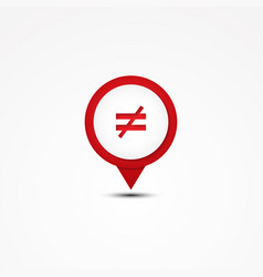 combination not equal mathematics symbol vector image