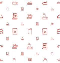 Cover icons pattern seamless white background vector