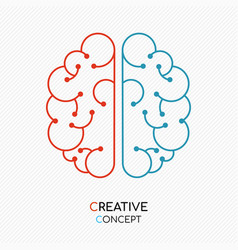 Creative thinking human brain concept for new idea vector
