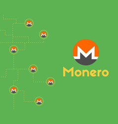 Cryptocurrency monero symbol background collection vector