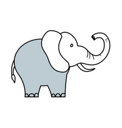 cute elephant cartoon vector image