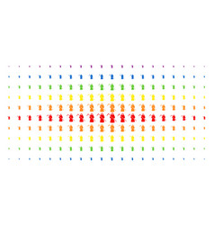 Death scytheman spectral halftone effect vector