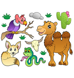 desert animals collection 1 vector image