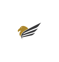 eagle logo template icon vector image