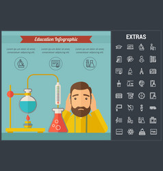education infographic template elements and icons vector image