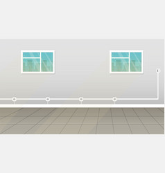 empty room interior vector image