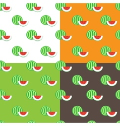 Flat watermelons seamless pattern vector
