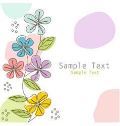floral greeting card postcard vector image