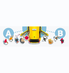 flow people through taxi vector image